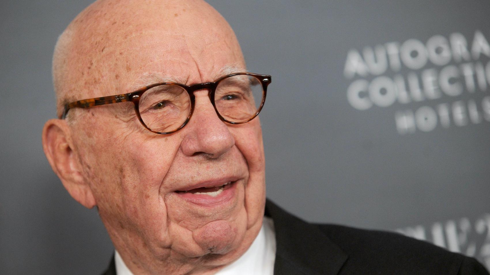 Rupert Murdoch, an Australian-born American media mogul.