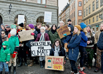 Greta Thunberg, climate activist, has been demonstrating on Fridays outside the Swedish Parliament. Photo: Liv Oeian