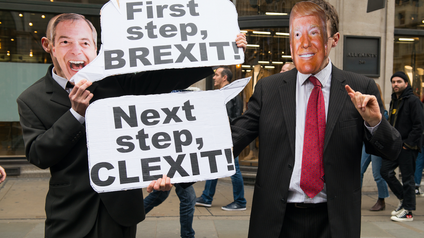 Thousands of people turn out for the anti racism - anti-Donald Trump and Nigel Farage rally through central London on March 18, 2017. Photo: John Gomez