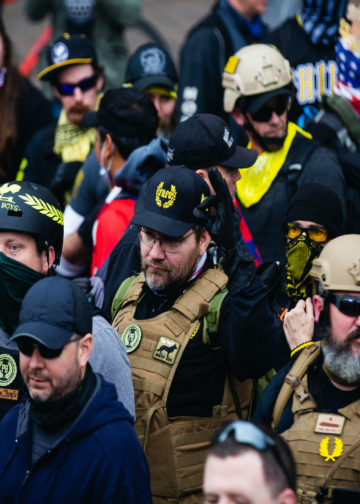 The Proud Boys participated in Million Maga March in Washington DC on December 12, 2020.
