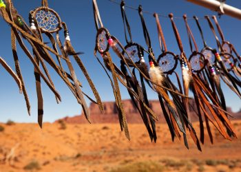 Dreamcatchers in a breeze in Monument Valley, Utah, USA.  Photo: Jane Rix