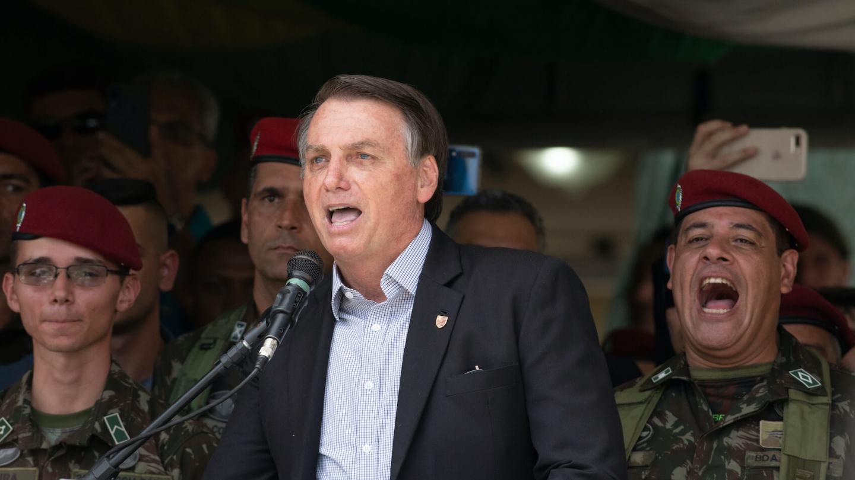 Brazilian President Jair Bolsonaro during 74th Anniversary of Parachutist Infantry Battalion held at Military Village in Rio de Janeiro, Brazil on November 23, 2019. Photo: Celso Pupo