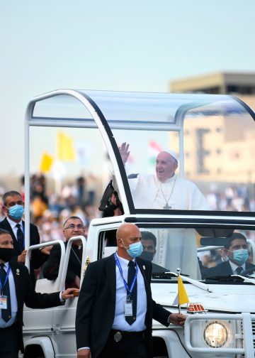 Pope Francis warm welcomed by the people of Kurdistan in Northern Iraq, during his visit in Erbil on March 7, 2021.