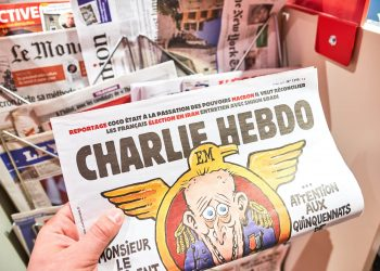 Charlie Hebdo is a French satirical weekly magazine, featuring cartoons, reports, polemics, and jokes.