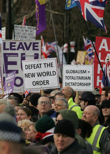 Brexit Betrayed Rally organised by UKIP in London on September 12, 2019. Photo: Rupert Rivett.